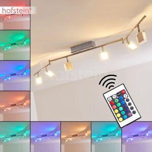 Plafonnier-LED-Lustre-moderne-Changeur-de-couleur-Lampe-a-suspension-6-branches