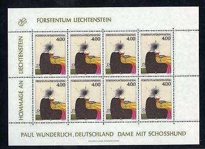 125731 !!! Liechtenstein Nr.1123 ** Kleinbogen Kunst Me 55,-+