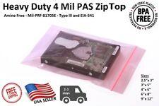 Pink Antistatic 4mil Zip Top Bags Anti Static Reclosable Lock 25x34568912
