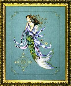 """SALE! COMPLETE XSTITCH MATERIALS """"SHIMMERING MERMAID"""" MD71 by Mirabilia"""