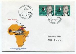 Brillant Ffc 1977 Mittelhozer Afrika Gedenkflug Special Flight Zurich Kapstdt Helvetia