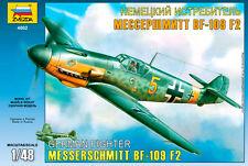 Zvezda 4802 German Fighter Messerschmitt Bf-109 F-2 1/48