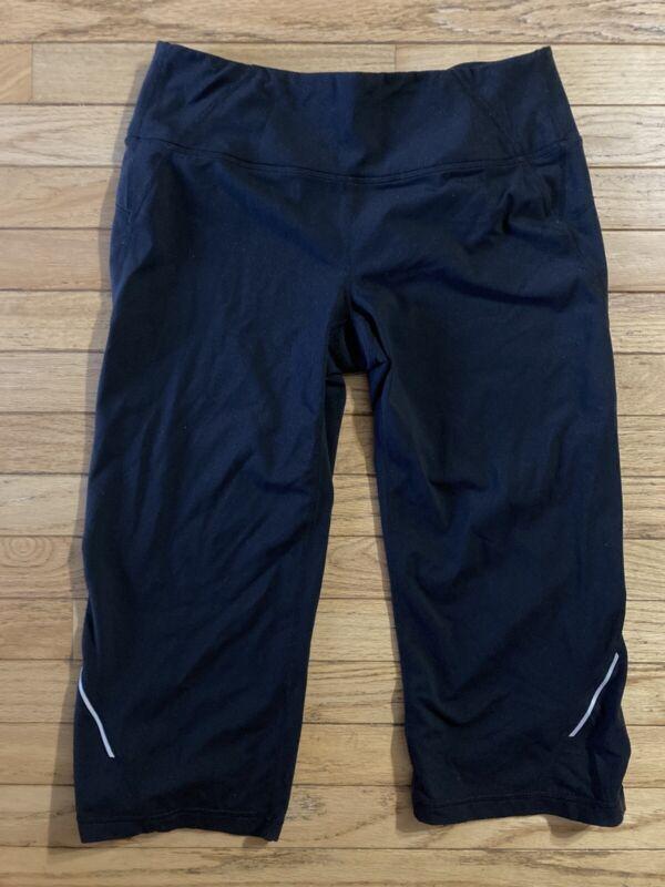 Bright Athleta Womens Medium Capri Pants Black Vguc