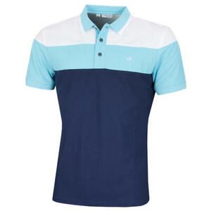 Calvin Klein Mens Bold Colour Block Breathable Wicking Polo Shirt 54% OFF RRP