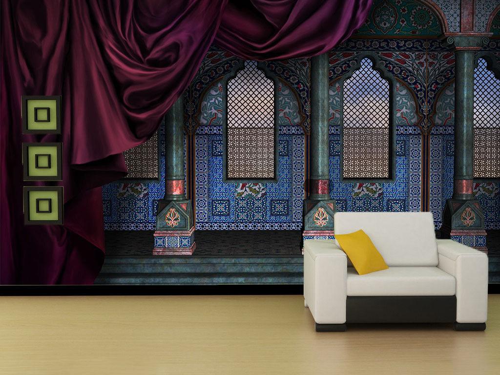 3D Ethnischer Stil Gebäude 7 Tapete Wandgemälde Tapete Tapeten Bild Familie DE | Zu einem niedrigeren Preis  | Deutschland Online Shop  |