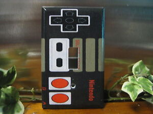 Nintendo-Controller-Light-Switch-Wall-Plate-Cover-1-Outlet-Double-GFI