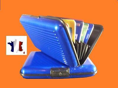 Astucieux Boitier Etui Porte Carte Bleu En Aluminium Cartes Bancaires Ebay