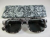 Hot Topic Sun Readers Black & White Design 3 Uva Protection With Case +2.00