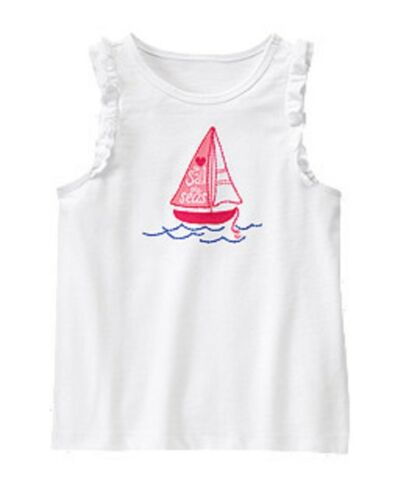 NWT Gymboree Girls Hop N Roll Sailboat Top Size 4 5 6 /& 8