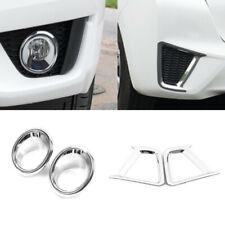 Pair Front Head Light Lamp Cover Trim Eyebrow for Honda Jazz GK5 FIT3 14-16