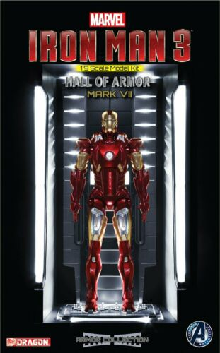 "Iron Man MK.7 Hall of Armor /""Iron Man 3/"" Avengers Dragon 38336 Marvel"