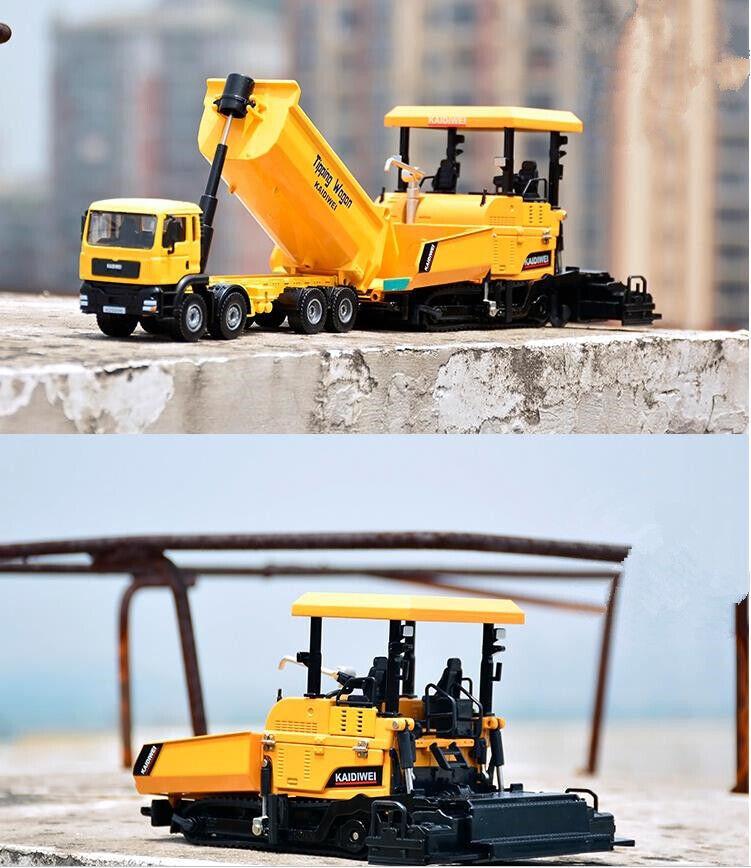 Dumper e Pavers modello, 1 32 Ingegneria in lega camion veicoli giocattolo, in metallo