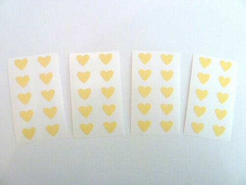 Mini Sticker Pack Labels Small 13x12mm Self-Adhesive Heart Shape Stickers