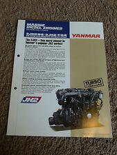 Yanmar Marine Diesel Engine 3JH2E 3JH2BE 3JH2-TE 3JH2-HBE Dealer Sales Brochure
