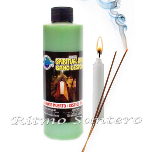 Bath Wash Kit Removing DISPEL JINX-ESPANTA MUERTO Set Fixed 7 Day Candle Oil
