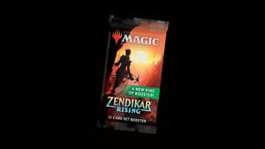 Magic-the-Gathering-Zendikar-Rising-Set-Blister-Packs-12-Brand-New-MTG