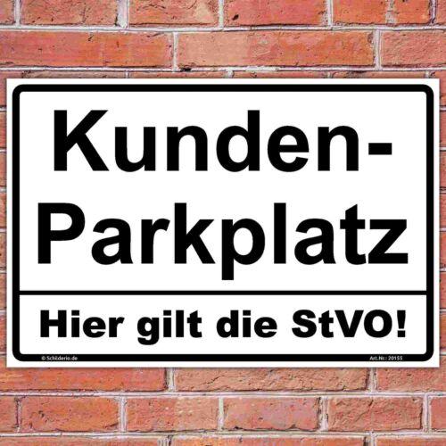 "StVO/"" Aluminiumverbundplatte 3mm Hinweisschild 450x300 mm /""Kundenparkplatz"