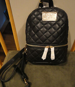 d0d3c67cdb4a NWT 89.00 Authentic bebe Danielle Quilted Mini Backpack. Black. Very ...
