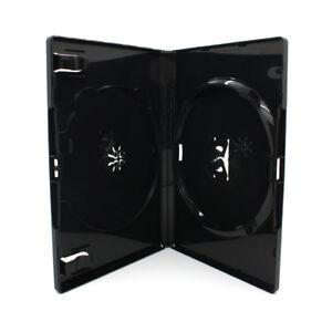 50-x-2-Fach-AMARAY-DVD-Huellen-fuer-2-CD-DVD-Huelle-14mm-Schwarz-Doppelseitig