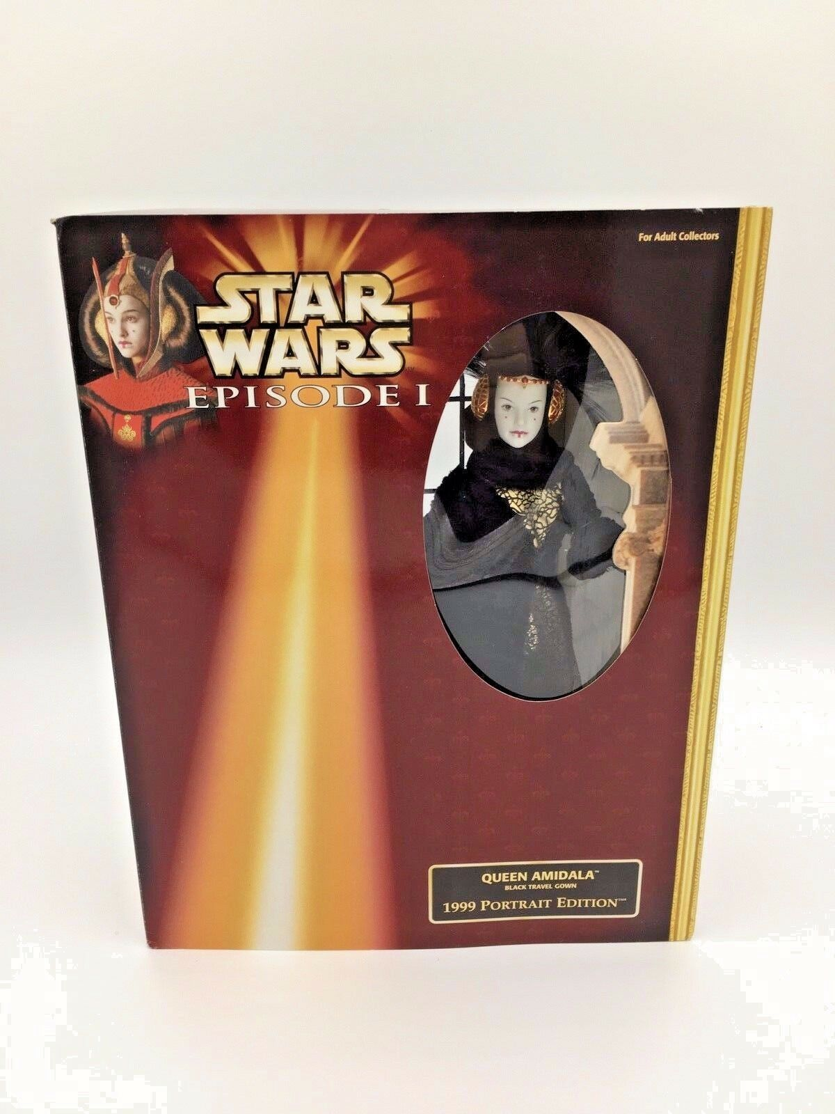 Star Wars Queen Amidala Episode 1 schwarz Travel Gown 1999 Portrait Edition Hasbro