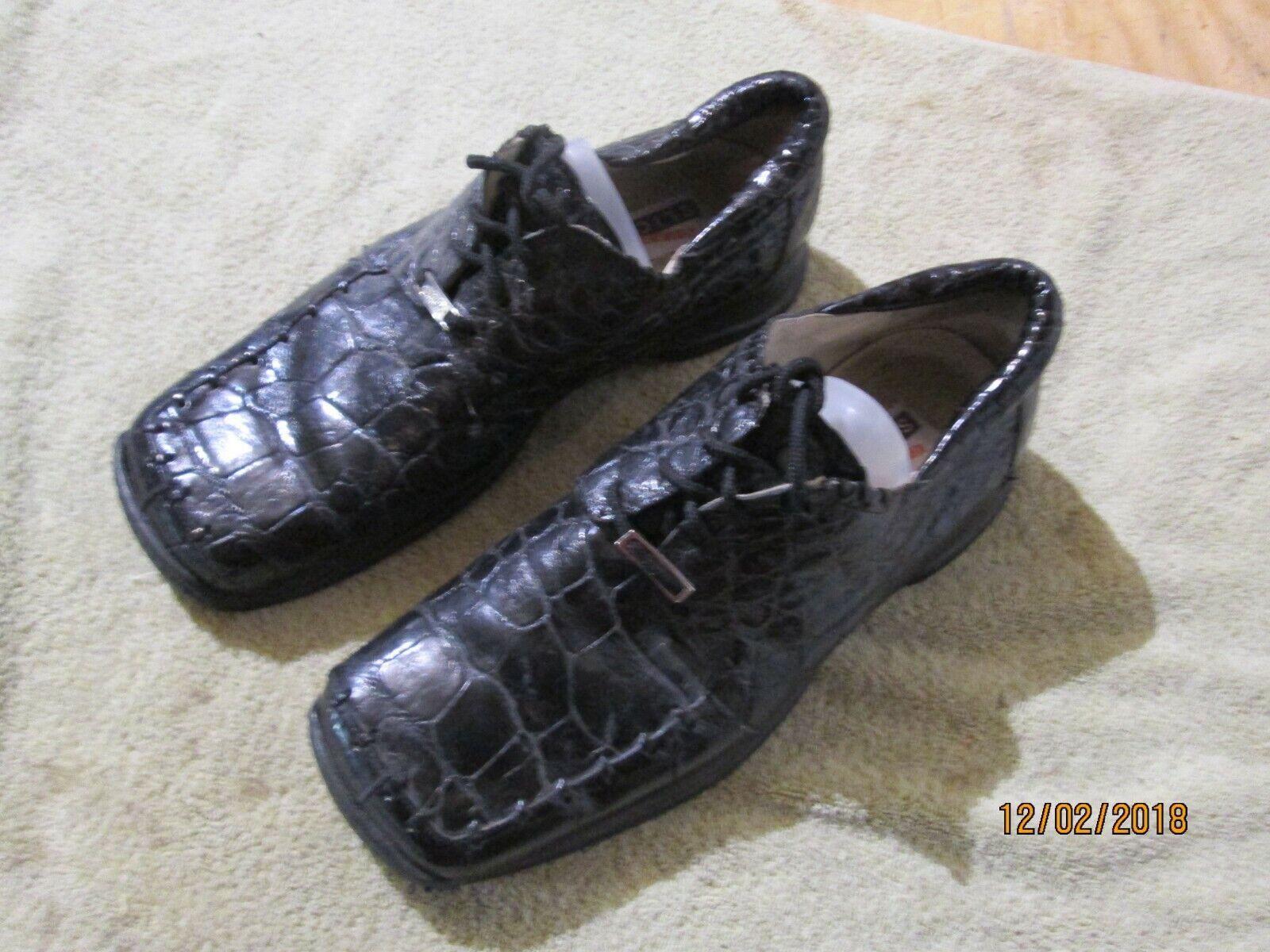 connotazione di lusso low-key Mauri For City Slicker Alligator Alligator Alligator Uomo scarpe made in italy Dimensione 10  Sconto del 70% a buon mercato