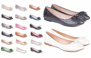 Ladies-amp-Girls-Flat-Slip-On-Shoes-Size-3-to-8-UK-Ballerina-Pumps-amp-Ballet-Shoe