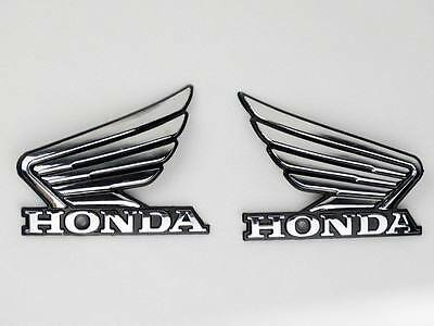 Motorcycle Gold Wing 3D ABS Fuel Tank Emblem 3M Decal Sticker Custom Pair New