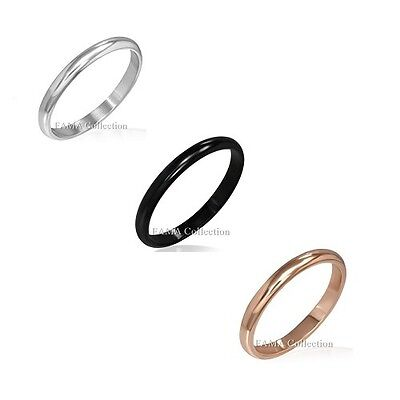 Top Quality FAMA 4mm Stainless Steel Engraved Grooves Flat Band Ring Size 7-12
