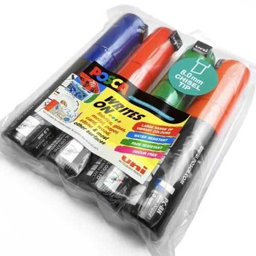 Uni-Ball Posca Paint Marker Art Pen PC-8K Wallet of 4 Assorted Colours
