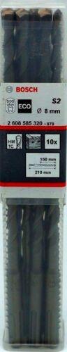 10x Bosch Pro Hammerbohrer SDS-plus S2 ECO Ø 8 mm x 210mm Betonbohrer 2608585320