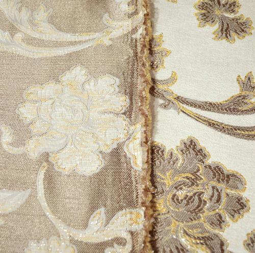 Gold Lt HC521a Lt Brown Beige Flower Jacquard Cotton Cushion Cover//Pillow Case