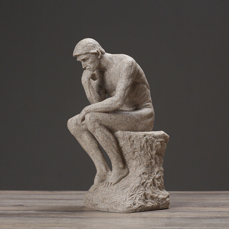 Image 1 - Sandstone-Abstraction-Auguste-Rodin-The-Thinker-Bust-Statue-Character-Plaster