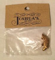 Joshua's Miniature Dollhouse Accessory - Gold Tone Brass Armadillo