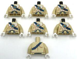 Lego-7-New-Tan-Legends-of-Chima-Minifigure-Torsos-Pieces