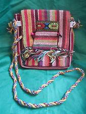 Moroccan Handmade Multi-coloured Wool fully lined Handbag NEW
