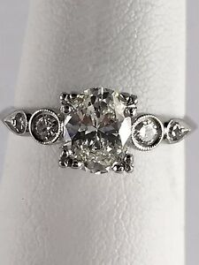 Estate-Vintage-Platinum-Ring-w-Solitaire-Diamond-w-Accents-0-50-TCW-Size-8-25