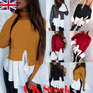 UK-Fashion-Women-Long-Sleeve-Frill-Ruffle-Tops-Casual-Loose-Ladies-Blouse-Shirt
