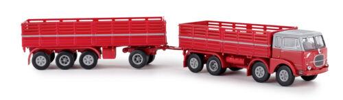 Brekina 58411 Fiat 690 millipiedi rojo//gris ho 1:87 nuevo