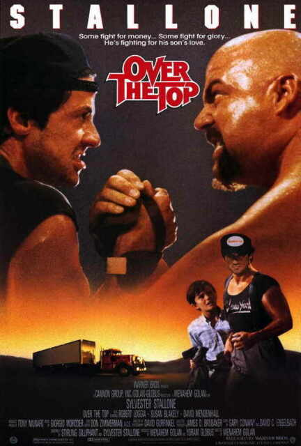 OVER THE TOP 1987 Movie Silk Fabric Poster Sylvester Stallone ARM WRESTLING