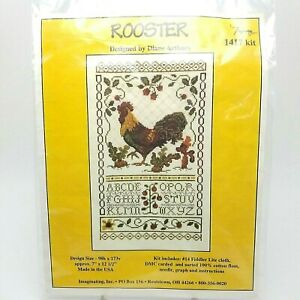 Cross-Stitch-Rooster-1417-Diane-Arthurs-Graph-Pattern-Instructions-Only