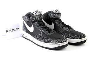 Details about NIKE AIR FORCE 1 MID '07 BLACK MENS BASKETBALL SHOE SIZE 10.5 (315123 022)