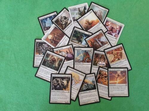 MAGIC Lot de 20 cartes rares Blanches MTG Toutes éditions Mint//NearMint