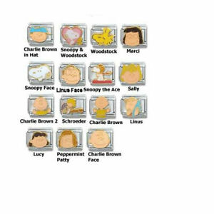 Stainless-Steel-9MM-Italian-Charms-Casa-D-039-Oro-Peanuts-Series-Charm