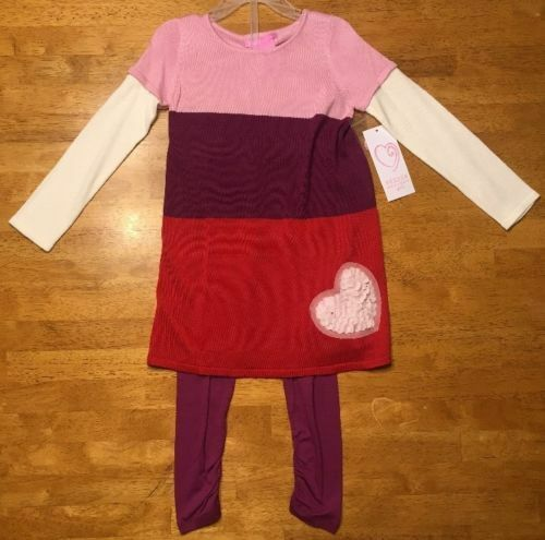 6cf3ea29b 2 PC Design History Girl s Sweater Dress Legging   Size 4t     SH ...
