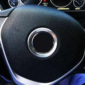 Centro-De-Volante-De-Plata-Anillo-de-logotipo-Cubierta-Para-BMW-1-3-4-5-7-serie-M3-GT5-X5