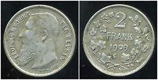 BELGIQUE 2 francs 1909 ( der belgen  )  argent