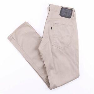 Vintage-Levi-039-s-511-Beige-Slim-Straight-Fit-schwarz-Tab-Herren-Jeans-w30-l32