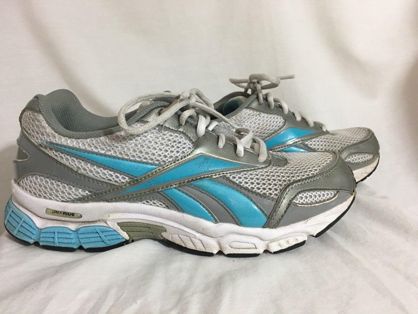 REEBOK Women's Running Blue Training Shoes Gray Aqua Blue Running white Size 8.5 548f2c