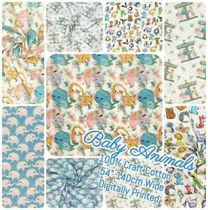"Per 1//2 /& Meter 140cm 54/"" DIGITAL PRINT BABY HARMONY 100/% CRAFT COTTON"