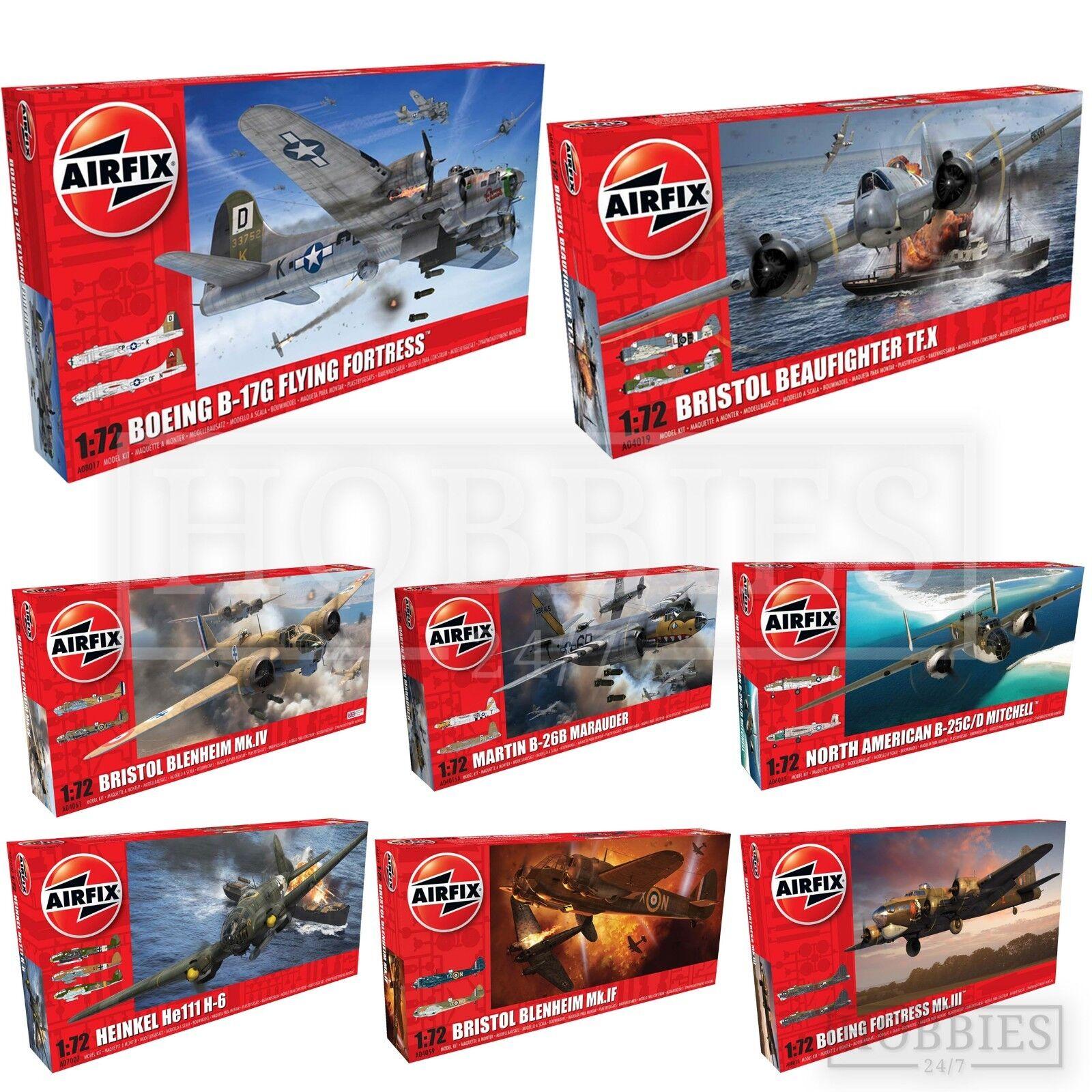 Airfix 1 72 WW2 Bomber Model Kits Flying Fortress Heinkel Bristol Avro Lancaster